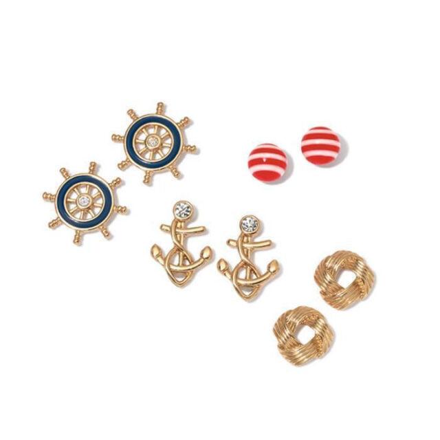 Avon Nautical 4 Pair Earring Set