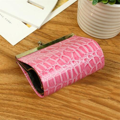 Women Mini Small Leather Clutch Bag Wallet Card Holder Coin Purse Handbag J