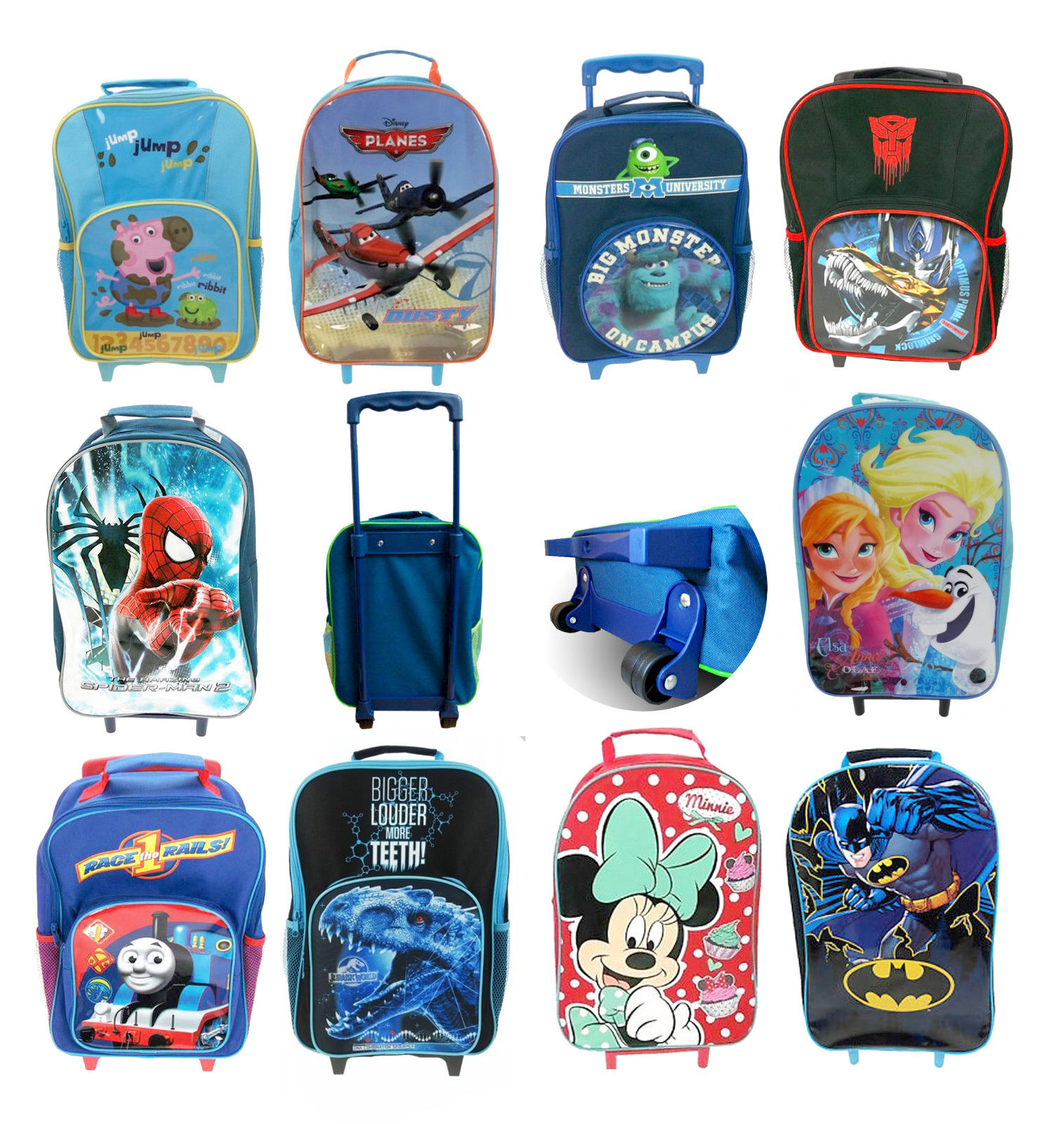 Kids Disney & Children Character Travel Holiday Trolley Suitcase ...