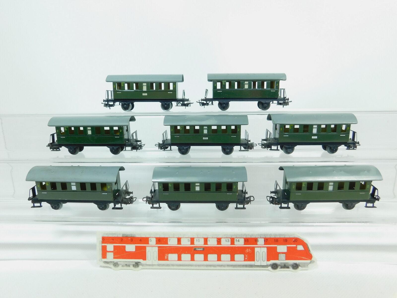 Bp658-1 x Märklin H0 Ac 4000 Tin Cars 2nd Class Bi
