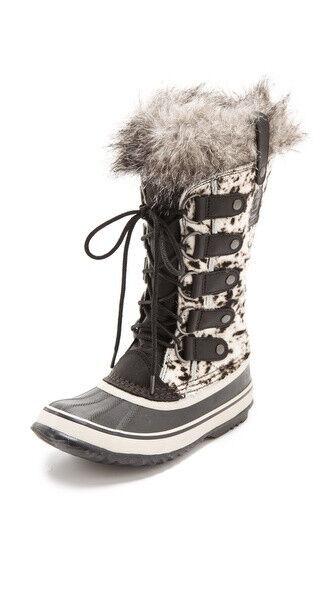 New sz 6 US / 37.5 Sorel Joan of Artic Cowhide Haircalf Snow Boots Women Shoes