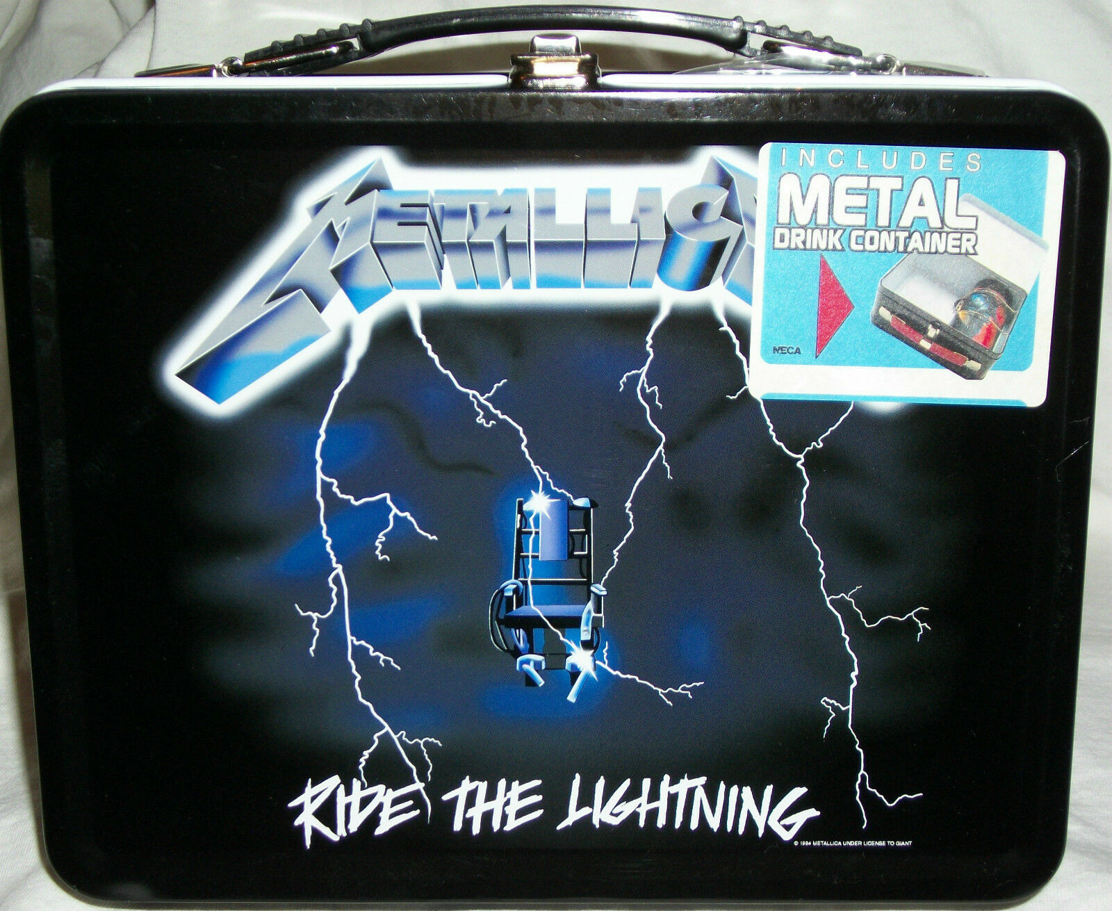 Mettuttiica Ride The Lightning Back To School lavoro Metal Lunchscatola Thermos Metalica