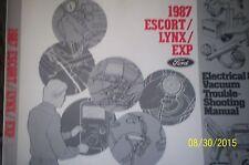 ford 1987 escort lynx exp troubleshooting manual