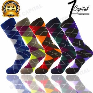 3-6-9-12-Pairs-Funky-Colorful-Men-Fashion-Causal-Cotton-Dress-Socks-Size-10-13