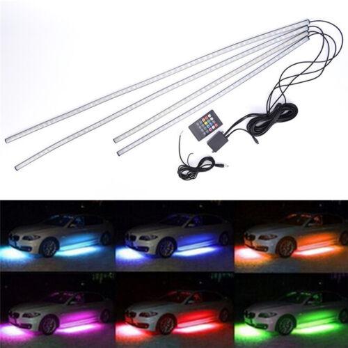 4X8 5050 RGB LED Strip Under Car Tube Underglow Underbody System Neon Light Kit