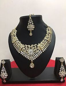 Indian-Bollywood-Style-Designer-Gold-Plated-Fashion-Bridal-Jewelry-Necklace-Set
