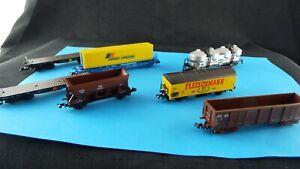 Spur-N-Gueterwagen-Konvolut-7-Stueck-Gebraucht-N-3