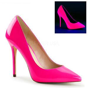 Schuhe 20 Fuchsia Amuse Rosa Stiletto Plateau Neon versteckte Pleaser nOwm80yvN