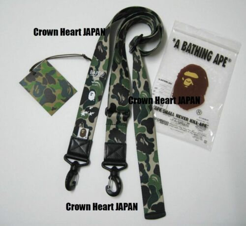 New A Bathing Ape ABC CAMO SHOULDER WIDE STRAP Green Auth from BAPE Japan