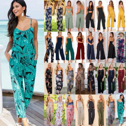 Holiday Long Dress Floral Playsuits Boho Size Plus Pantaloni 20 Womens tuta 8 wI1gOX