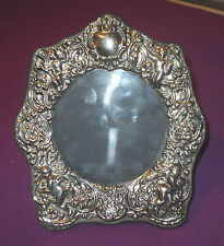 VINTAGE 1991 STERLING SILVER CHERUB PUTTI EASEL PHOTO PICTURE FRAME ANTIQUE