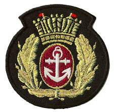 Ecusson patche Marine Royal Navy blason emblème patch brodé thermocollant
