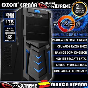 GAMING-ORDENADOR-PC-AMD-RYZEN-1500X-8GB-DDR4-1TB-ASUS-GTX1050-4GB-DDR5-SOBREMESA