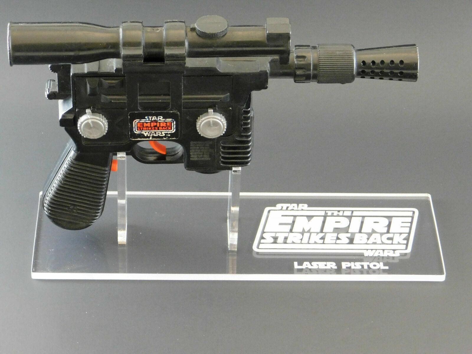 1 x Acrylic STAND - Empire Vintage Han Solo Laser Pistol Blaster - Right Facing
