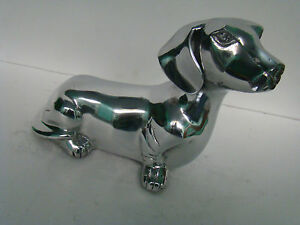 Aluminium Dachshund Dog Sculpture Figurene Home Decor Ebay