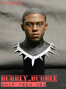 1//6 Captain America 3 Black Panther Head Sculpt For Hot Toys PHICEN Male Figure