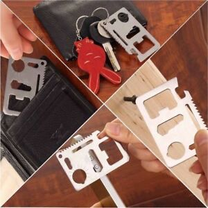 Multi Function 11 in 1 Portable Outdoor Saber Card