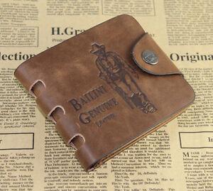 Stylish Men's PU Leather Bifold Wallet Pocket Card Clutch Cente Money Clip Purse