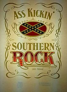 ass kickin' southern rock vintage retro tshirt transfer print, new, NOS