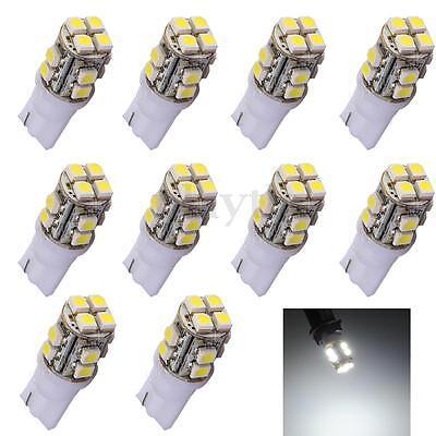10x T10 W5W 1210 SMD 12 LED White Car RV Trailer Interior Turn Light Bulb Lamp