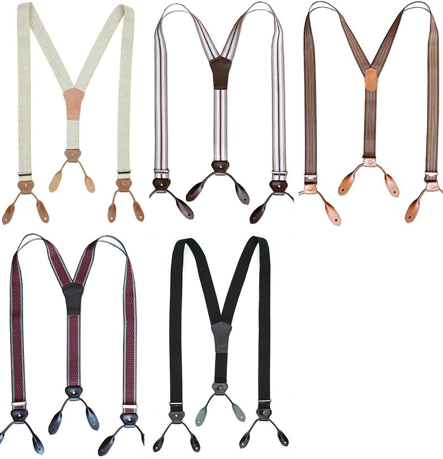 Stars & Stripes Oldstyle Hosenträger Hose Lederlaschen Anknöpfen