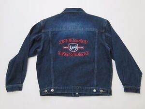 Phat-Farm-Denim-Washed-Womens-Jean-Jacket-Size-Medium-NEW-With-Tags-Spell-Out