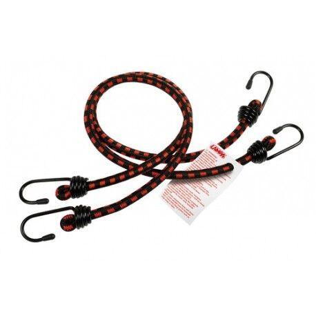 Corde elastiche slim Ø 8mm 2x60cm Ganci in acciaio temperato con plastificazione