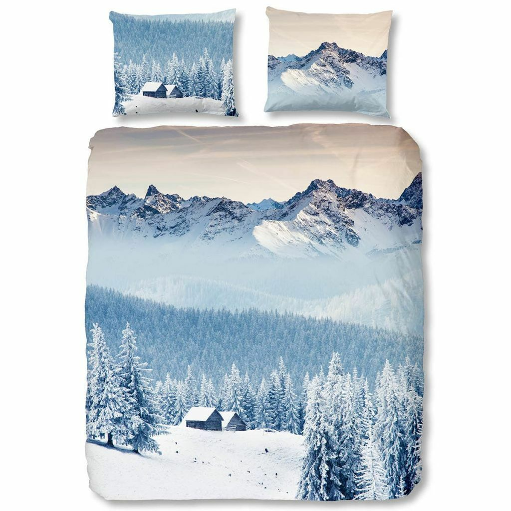 Good Morning Bettwäsche-Set Bettbezug 5661-P MOUNTAINS Blau mehrere Auswahl