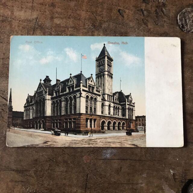 Postcard Post Office Omaha Nebraska Ca 1914 Poly Chrome