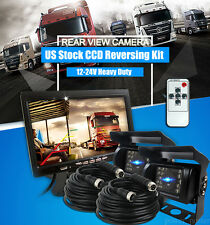 """For RV Truck Bus Van IR Rear View Back up Camera Night Vision System+7"""" Monitor"""
