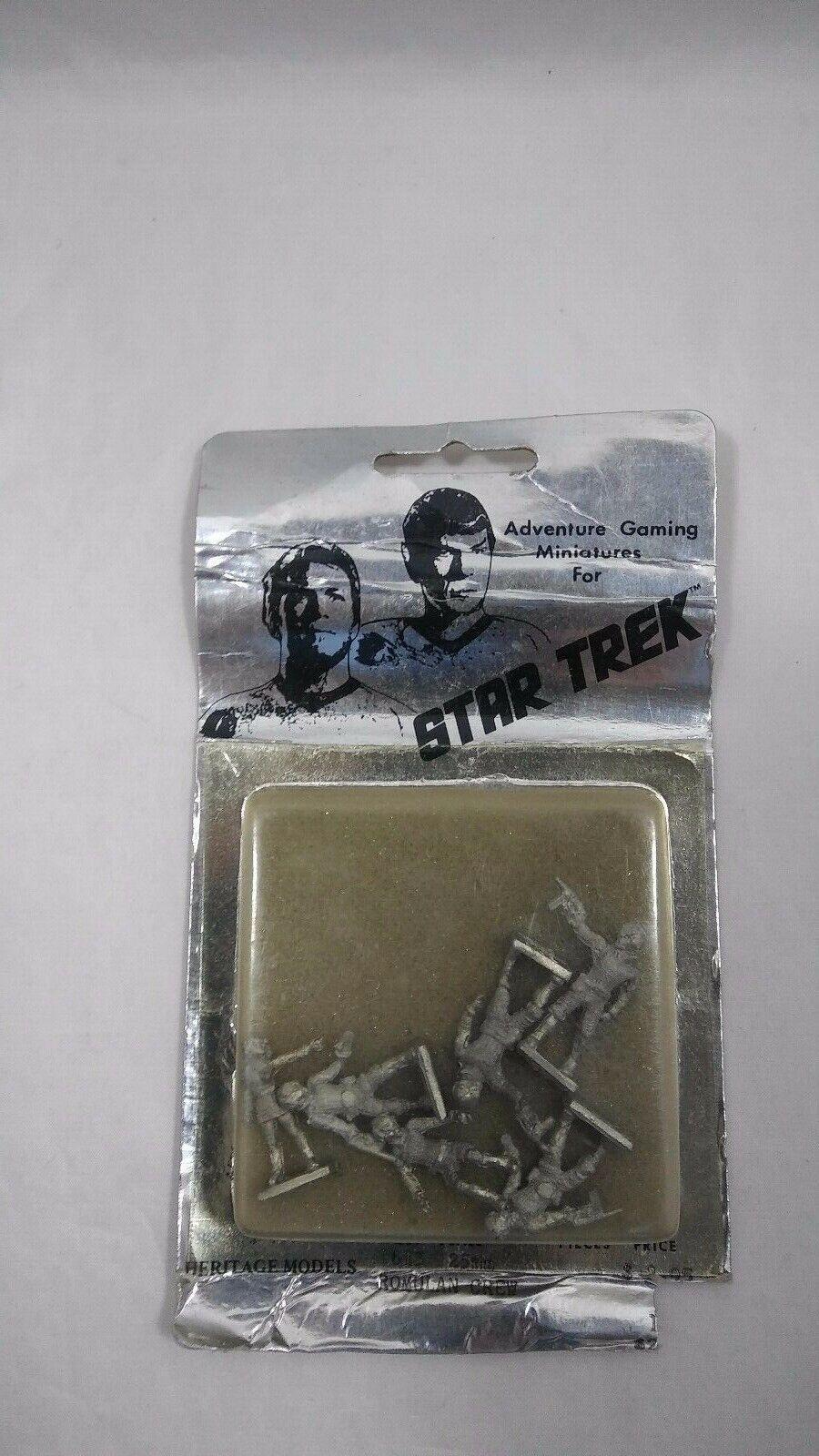 Heritage Models STAR TREK ROMULAN CREW Adventure Gaming Miniatures NOS SEALED