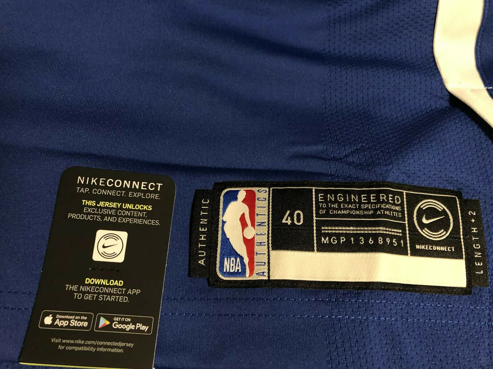 Nike Connected NBA Durant 35 Warriors Icon Edition Jersey AV2643-495 Size S
