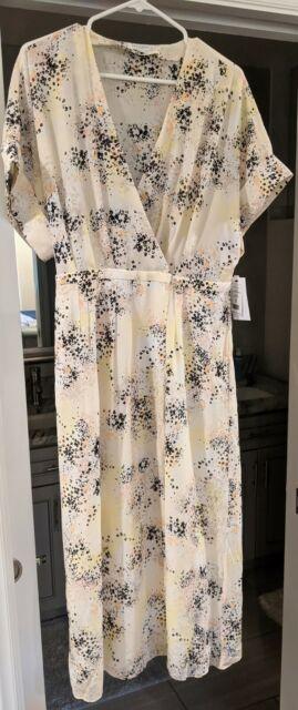 Equipment Tavine 100 Silk Kimono Sleeves Wrap Midi Dress Size 12 For Sale Online Ebay