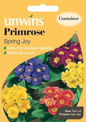 Unwins Pictorial Packet - Flower - Primrose Spring Joy - 75 Seeds