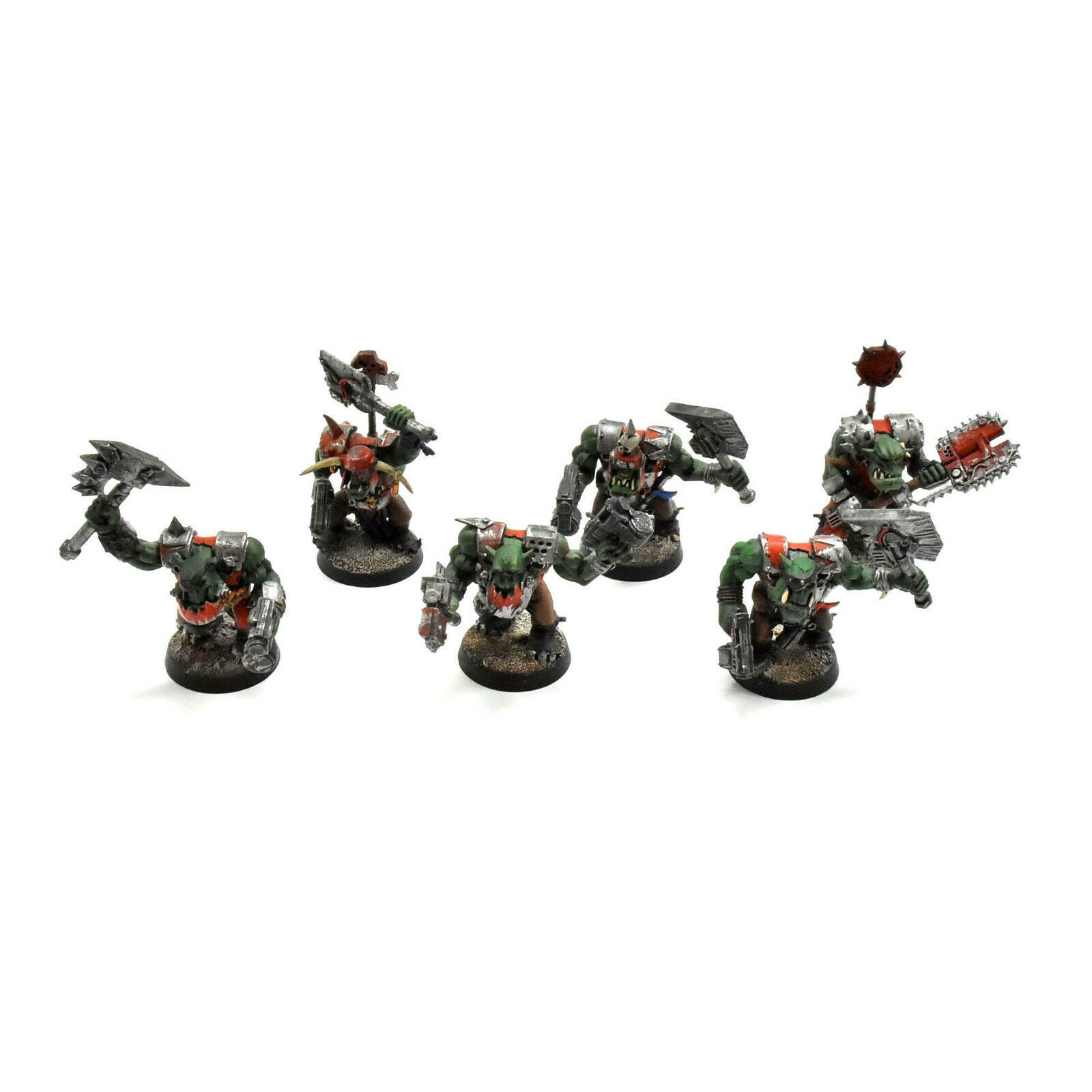 ORKS 6 nobz nob WELL PAINTED Warhammer 40K ork