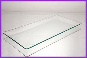 """6"""" x 12"""" Shallow Rectangle Clear """"BENT"""" Glass Plate 1/8"""