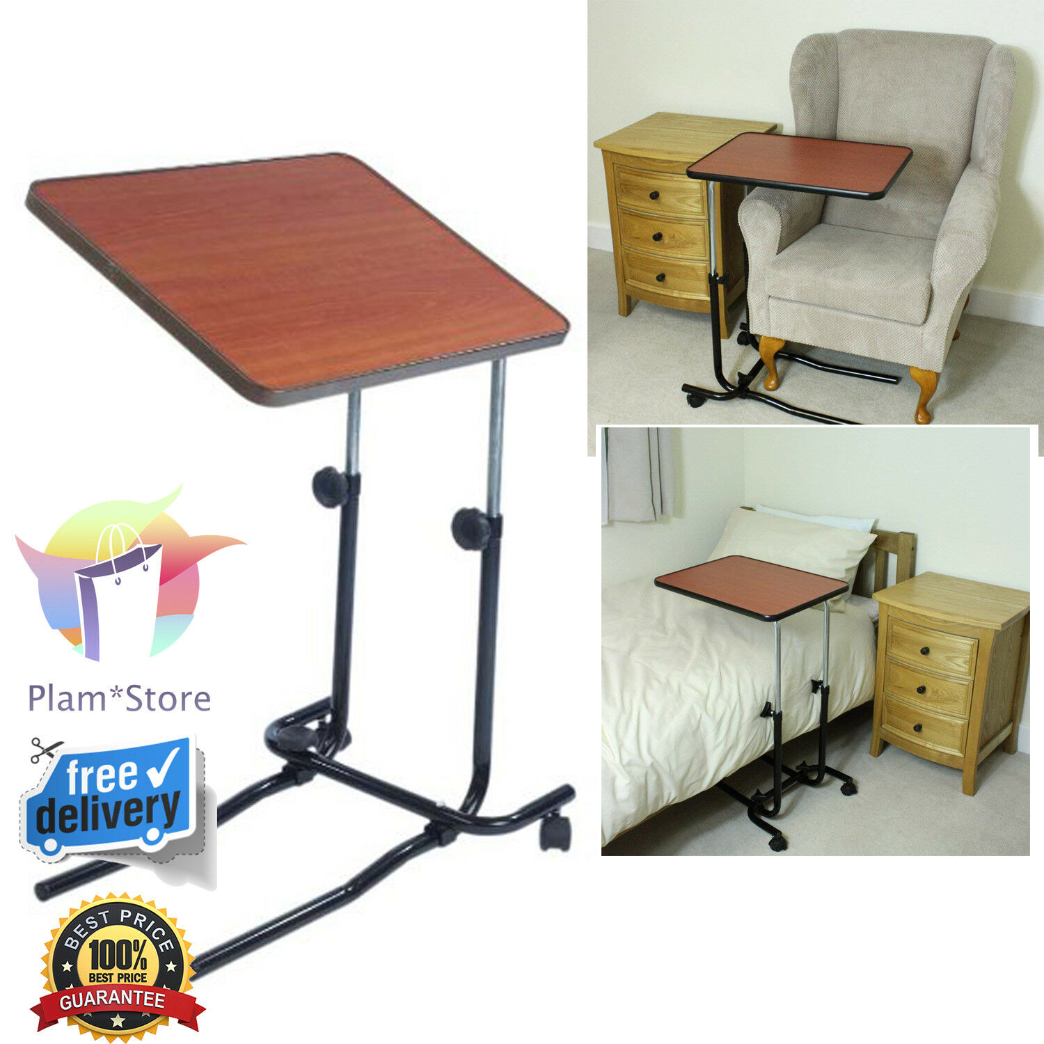 portable over bed chair table hospital tray mobility elderly food rh ebay co uk