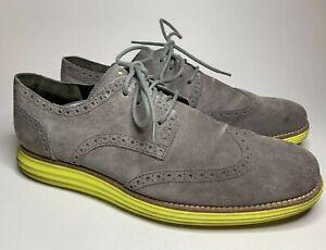 Cole-Haan-LunarGrand-Wingtip-Oxford-Suede-Dress-Shoes-US-11-5-C10226-161