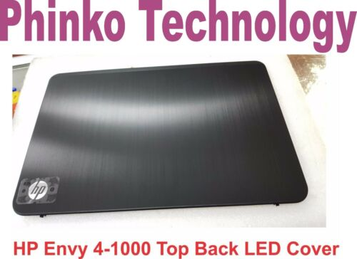 NEW LCD TOP Back Cover Rear Case for HP Envy 4 Envy 41000 Black