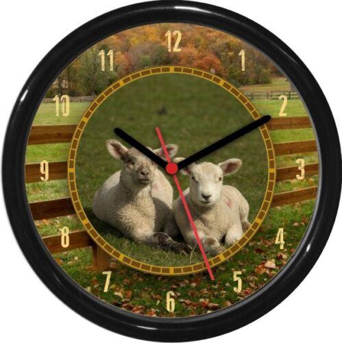 Sheep Personalized Farm Animal Print Wall Clock Gift