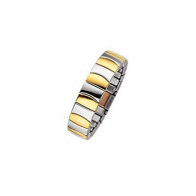 "MAGNETIX Breite 6,0mm Ring 4376 /""Flexi Kupfer Bicolor Gold/"" Magnetschmuck"