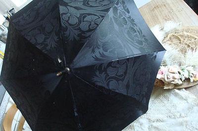 Ombrelle Soie Noire Ebene Brodee Orchidee Manche Marcassar Bagu14 Tieniti In Forma Per Tutto Il Tempo