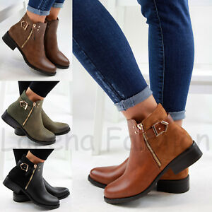Women Flat Ankle Boots