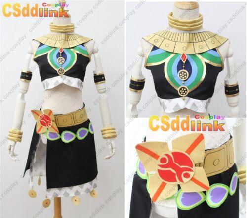 The Legend of Zelda Breath of the Wild Riju Cosplay Costume Black CS