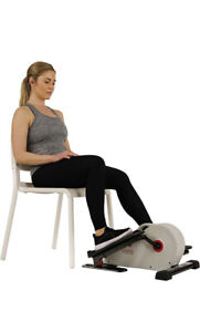 Sunny Health & Fitness SF-E3872 - Magnetic Under Desk Elliptical Peddler, Grey