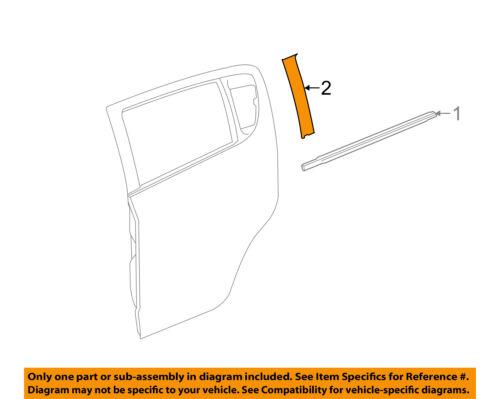 Chevrolet GM OEM 13-15 Spark Exterior-Rear-Black Out Tape Left 95181809