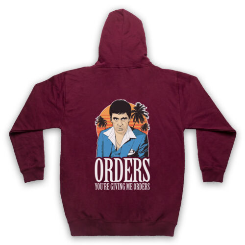 SCARFACE UNOFFICIAL ORDERS TONY MONTANA SCAR FACE MIAMI ADULTS /& KIDS HOODIE