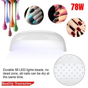 78w led uv nail polish dryer lamp gel acrylic curing light