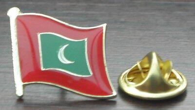 MALDIVES FLAG PATCH Embroidered Badge Iron or Sew on 3.8cm x 6cm ދިވެހިރާއްޖޭގެ