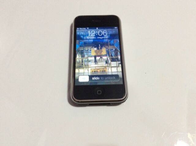 Rare Find IOS 2.2.1 Apple iPhone 1st Generation - 8GB - Black - A1203 (GSM)